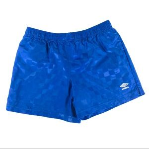 Umbro Mens XL Checkered Nylon Soccer Short Running